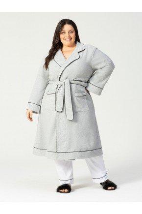 lingerie plus size roupao frente