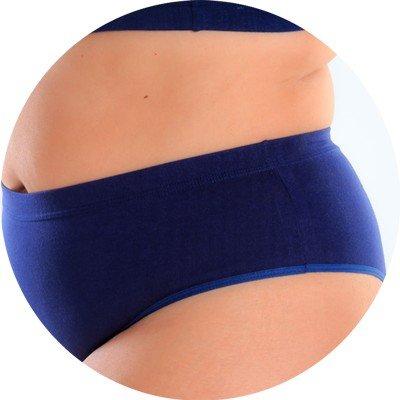 Liberari lingerie plus size calcinha marinho