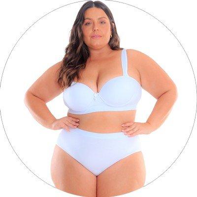 libertari lingerie plus size conjunto branco